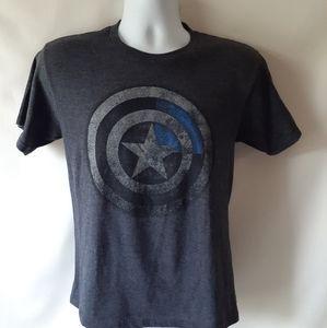 Marvel Captain America men's grey short sleeve T
